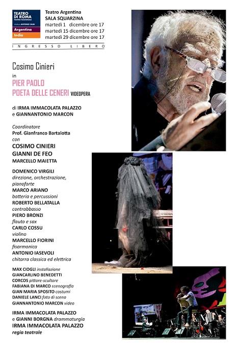 Pasolini Teatro Argentina ridimensionato